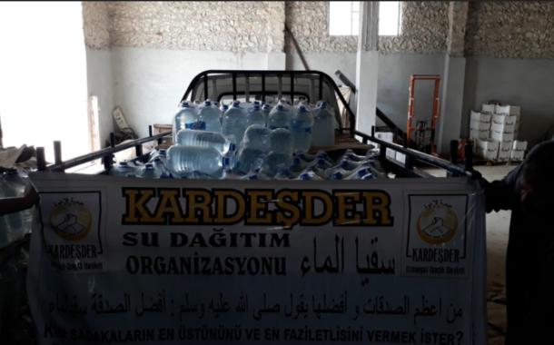 Havalar sıcakladı: Türkmen Dağı'ndaki kardeşlerimize su yardımı