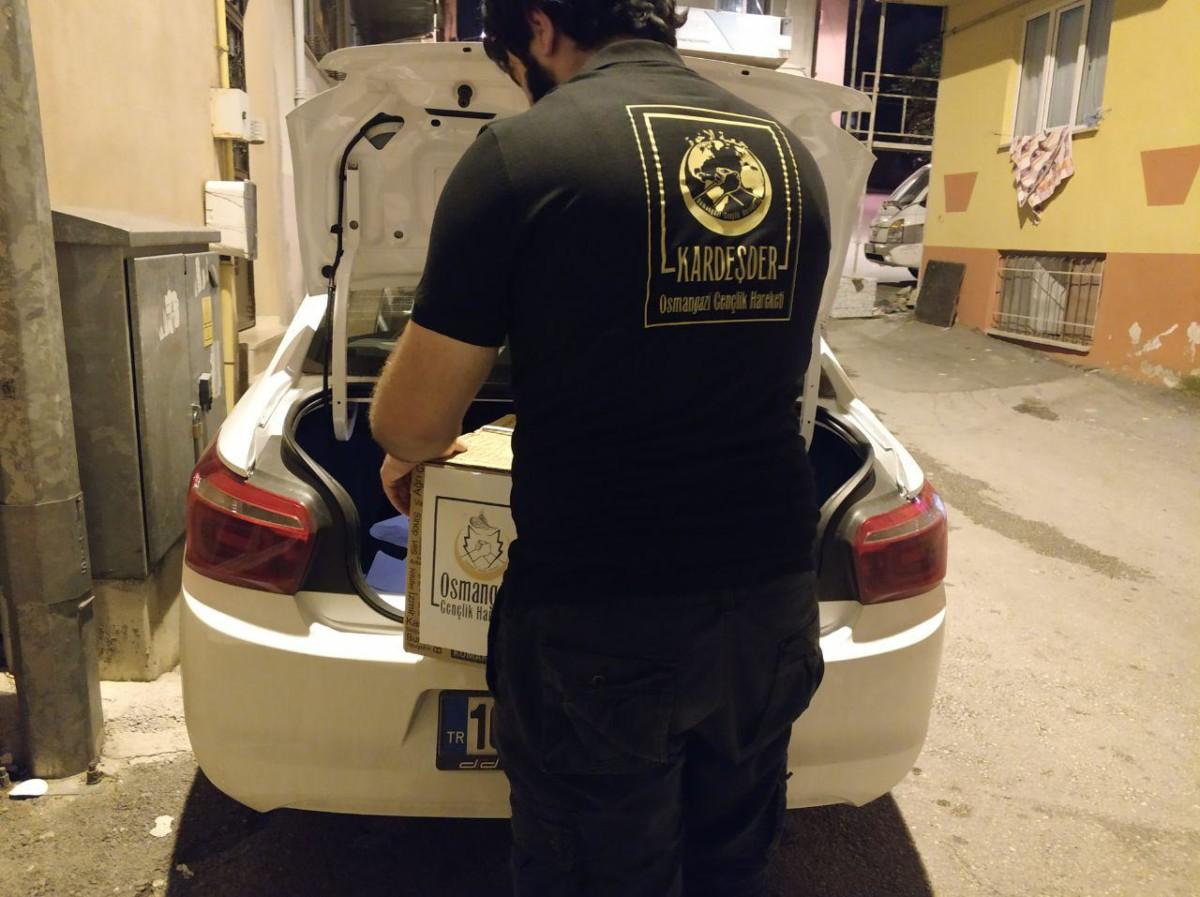 Türkmen yetim ailesine acil yardım çalışması
