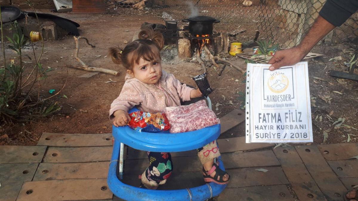 Suriye'de hayır kurbanlarınız mazlumları sevindiriyor