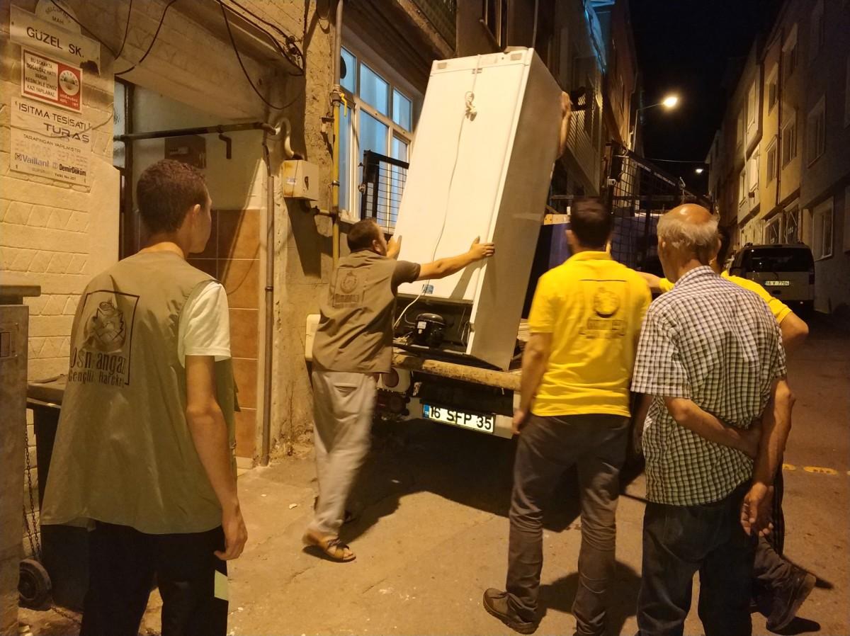Türkmen ailemizin ev eşyaları tamamlandı