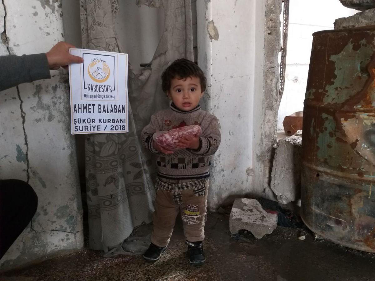 İdlib Şükür Kurbanı: Ahmet BALABAN