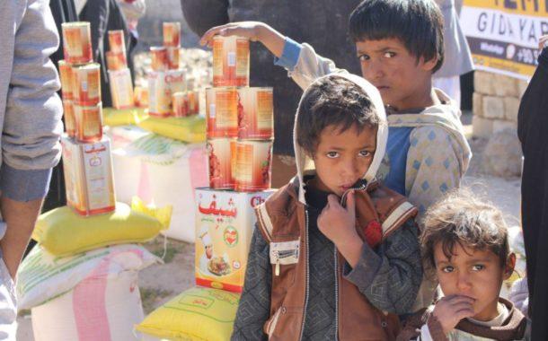 Yemen'e gıda yardımlarımız sürüyor