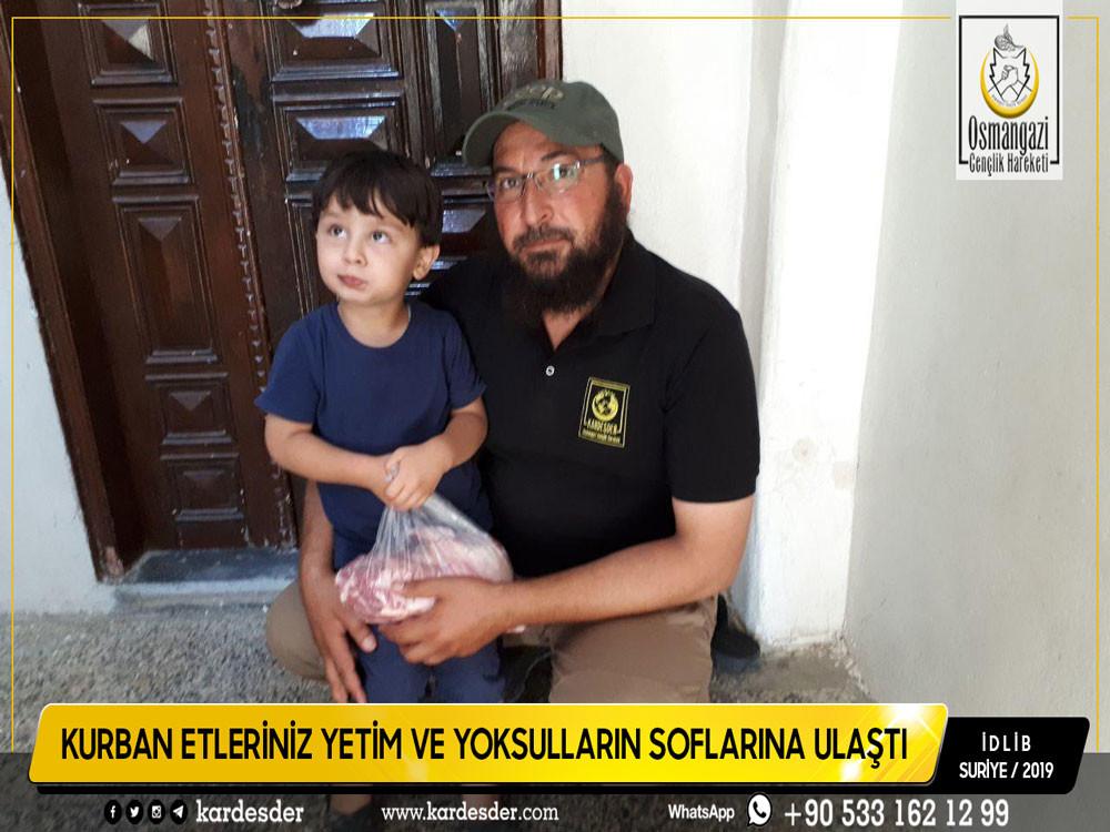 İdlib'den Türkmen Dağı'na Kurban etleriniz yetimleri sevindiriyor